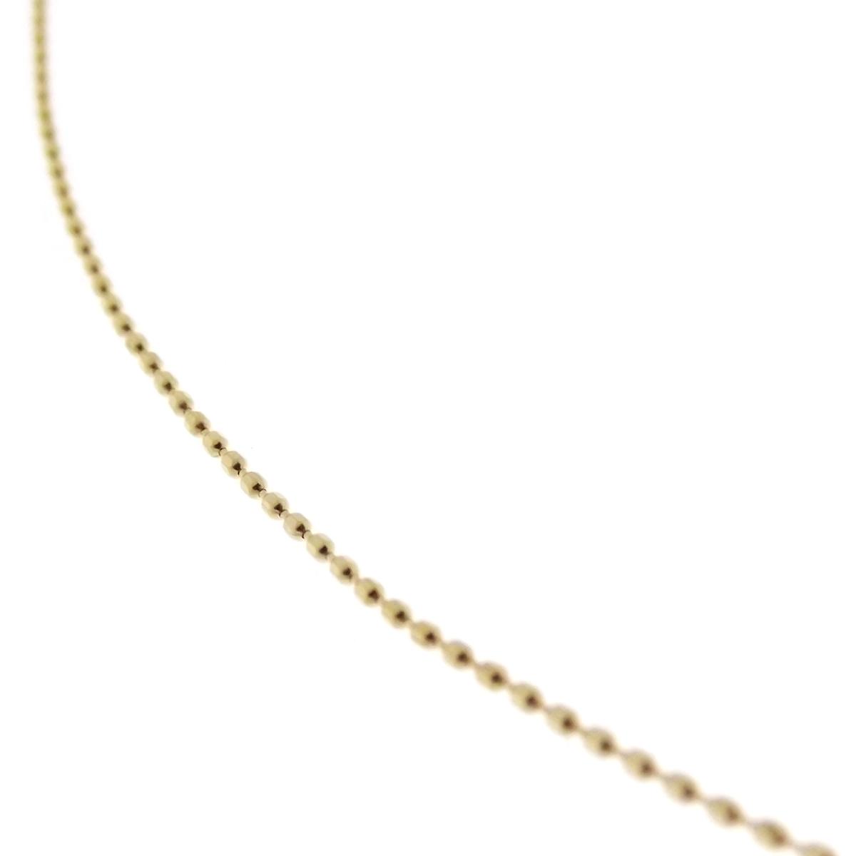 0f9b289131ea ... Cadena en collar de oro amarillo collanina hombre mujer cuello redondo  bola de diamante