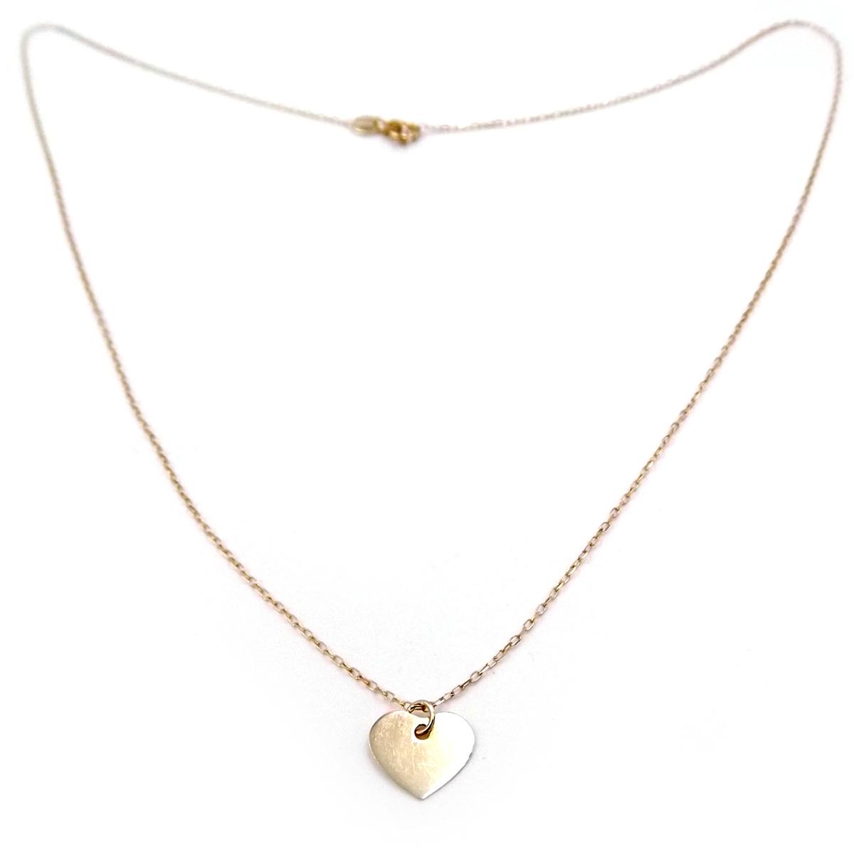 0367c86dcea2 Collar mujer de oro amarillo con colgante CORAZÓN cadena gargantilla ...