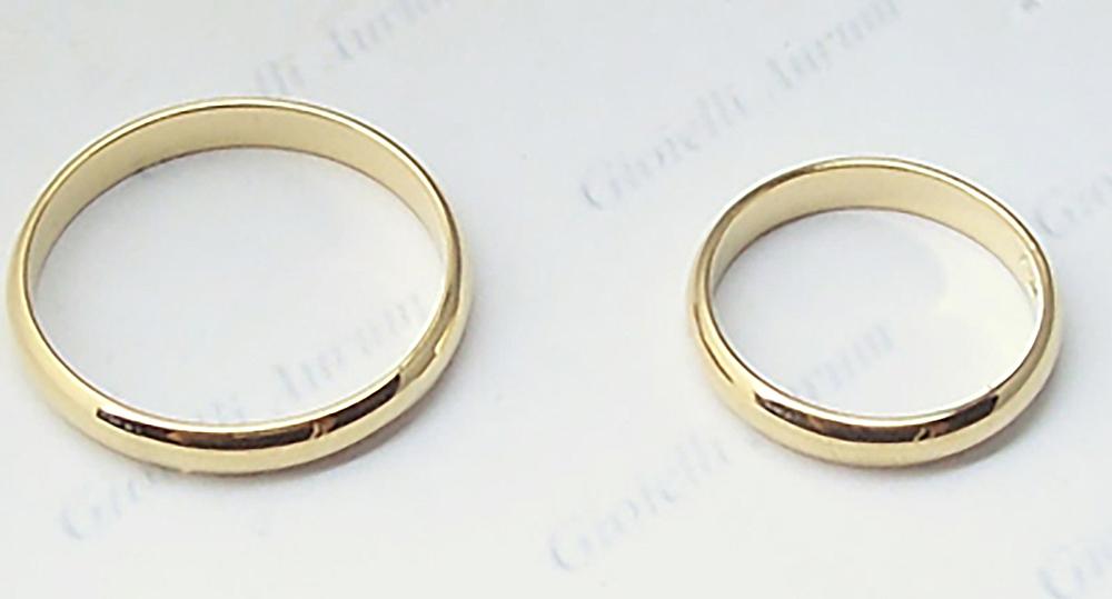Détails Sur Anneau Mariage En Or Jaune N2 Pièces Anneaux Pour Mariés Alliances Mariage