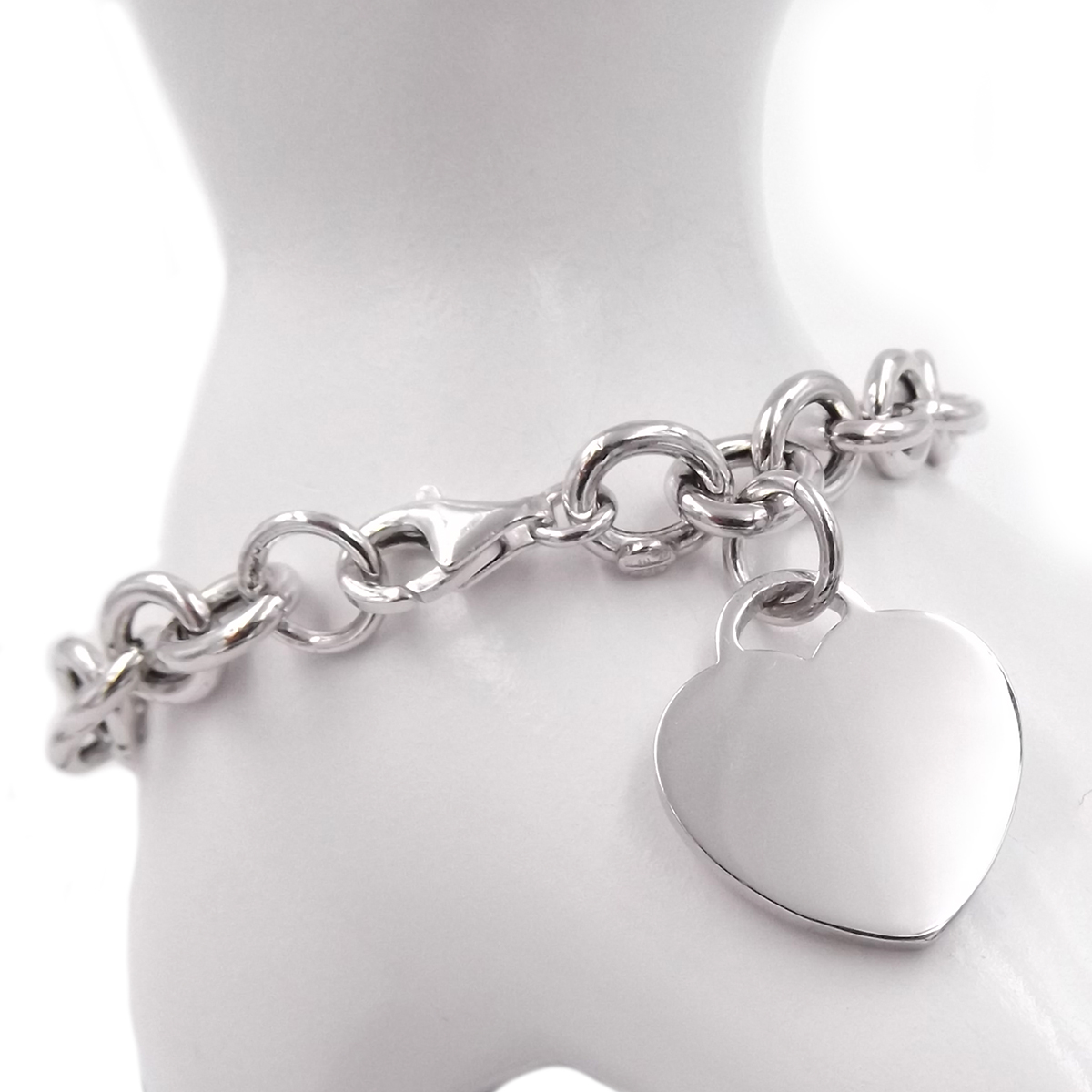 prezzo ridotto una grande varietà di modelli sito autorizzato Dettagli su Bracciale CUORE in argento 925 braccialetto donna catena con  ciondolo pendente