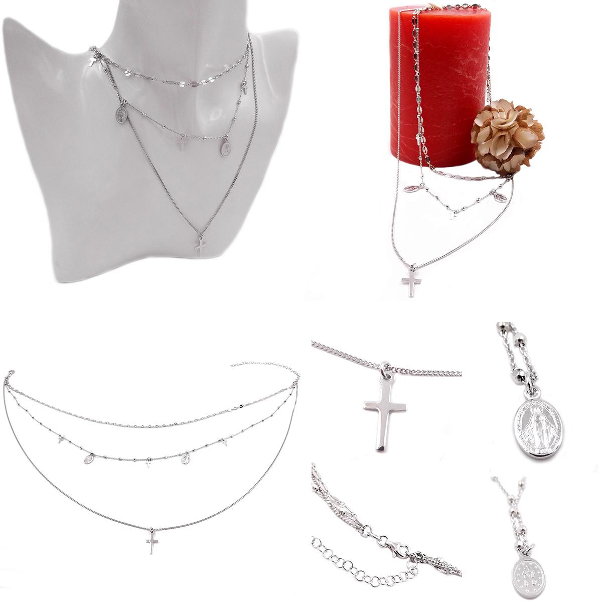collier chapelet femme argent
