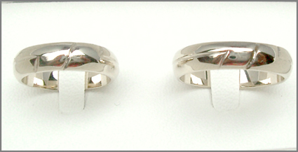 dcfbc4b25d6b Alianza nupcial de oro blanco tit.750 18 kt. anillos boda per 25 ...